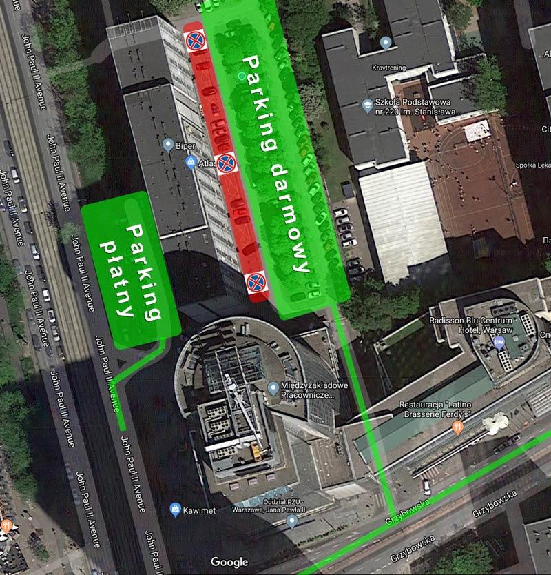 Parking MacWorks Warszawa Centrum
